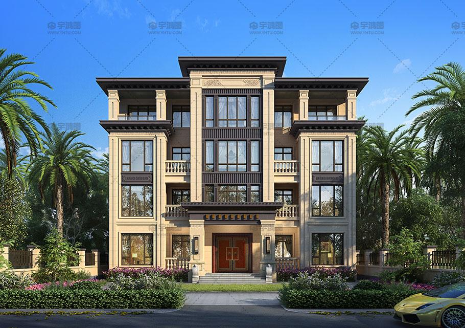 230平四层中式框架别墅设计图纸
