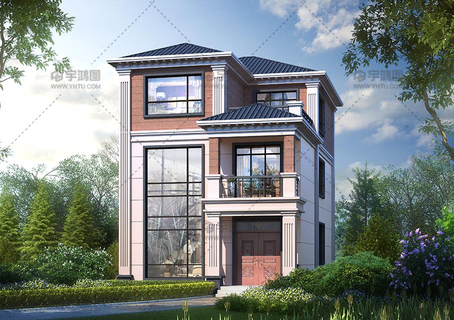 小开间三层框架结构别墅图纸