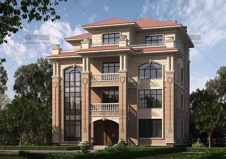 180平四层框架结构别墅效果图