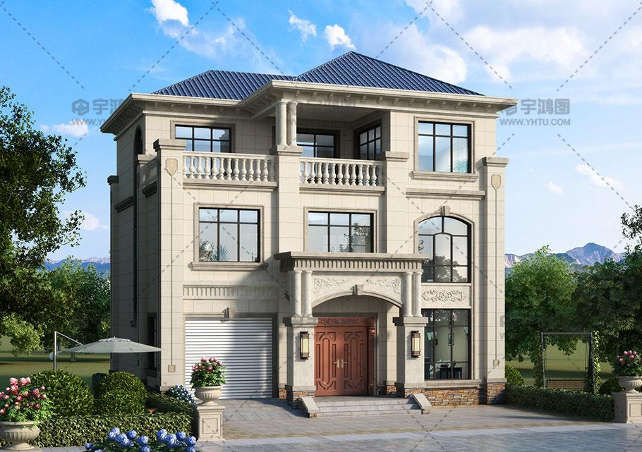 120平三层漂亮欧式别墅设计图纸