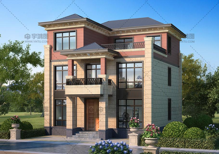 35万三层框架结构农村别墅图纸