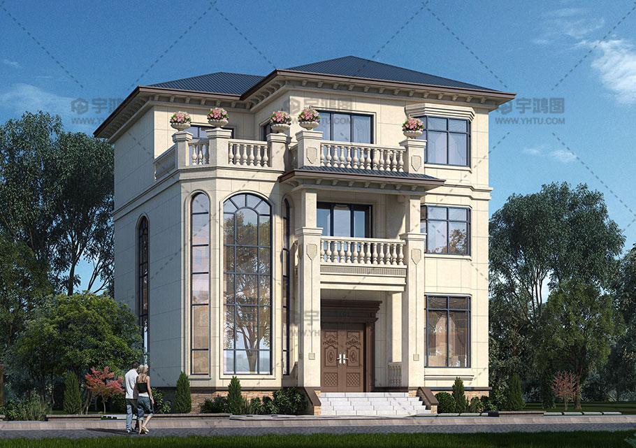 140平三层欧式豪华别墅设计图纸