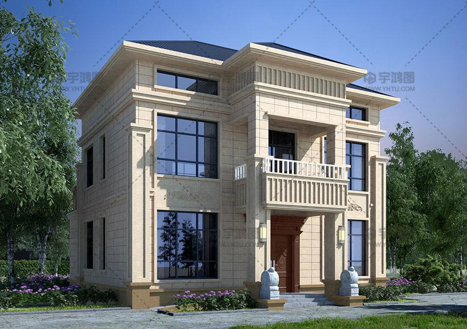 100平带柴火房两层自建房设计图纸
