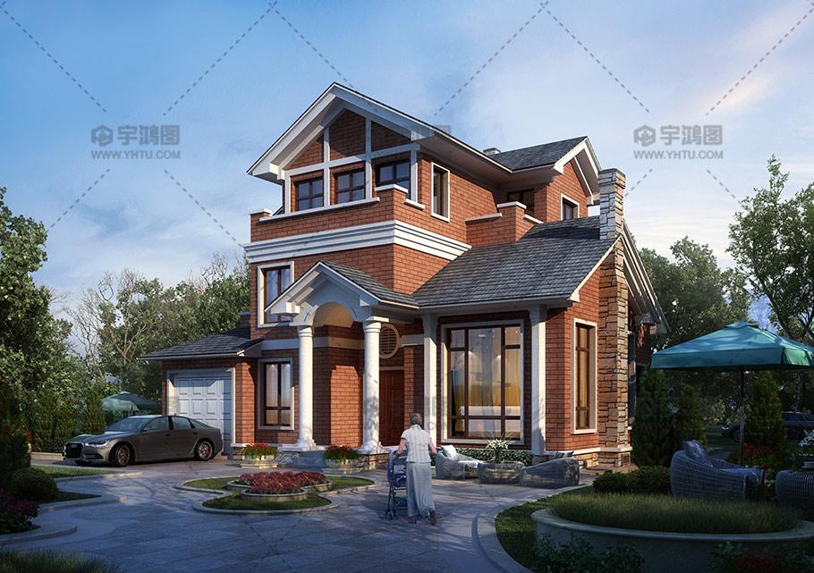 带复式客厅三层美式别墅设计图纸