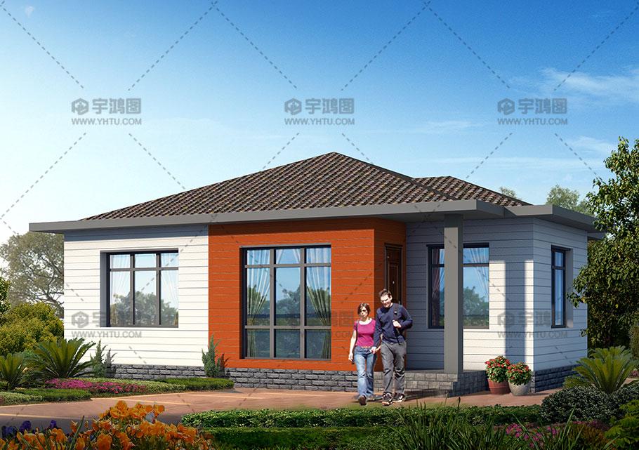 90平一层欧式新农村别墅设计图纸