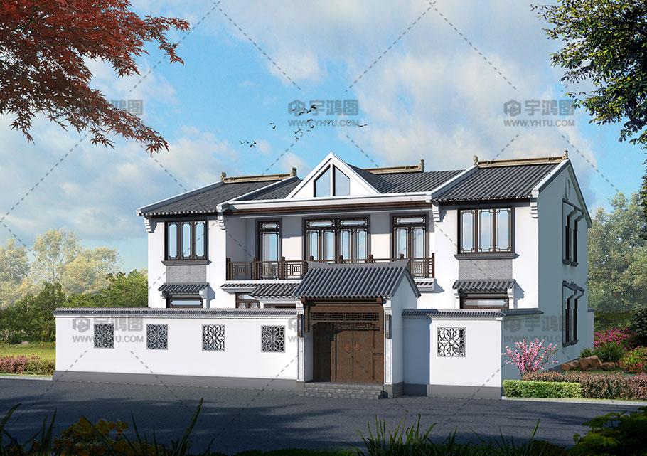 236平新农村中式四合院户型设计图纸
