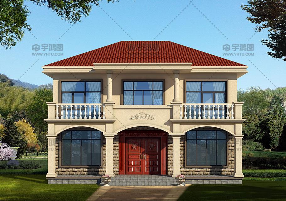 153平带堂屋农村欧式房屋设计施工图纸