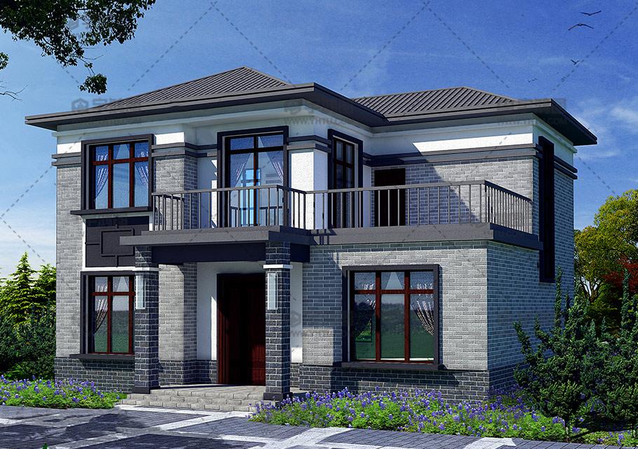 15万元二层农村独栋小楼房设计图,占地110平方米