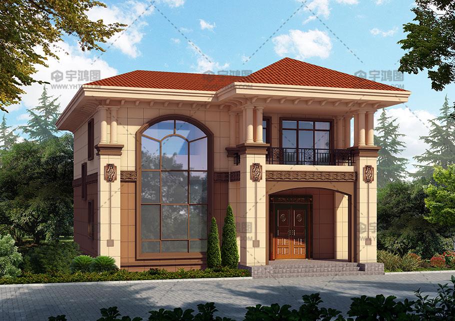 123平农村两层复式客厅房屋设计图纸