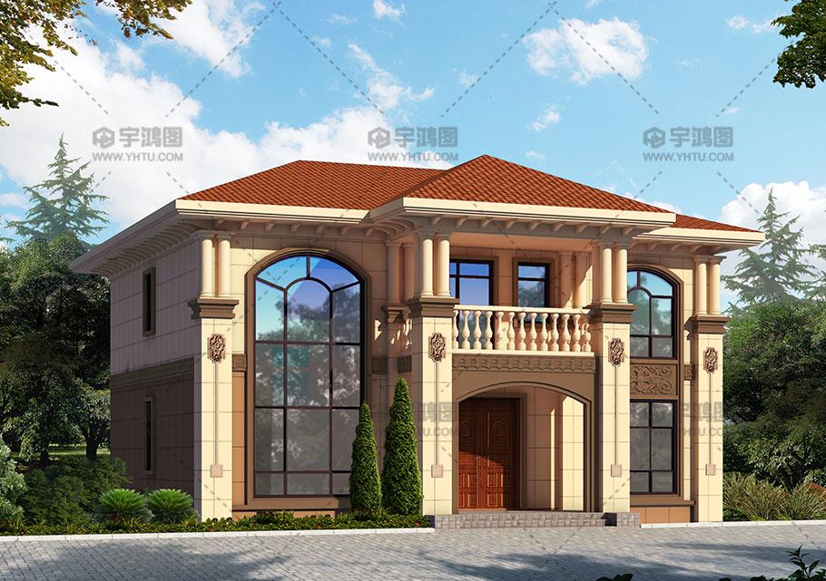 150平新农村二层带复式客厅小别墅图纸