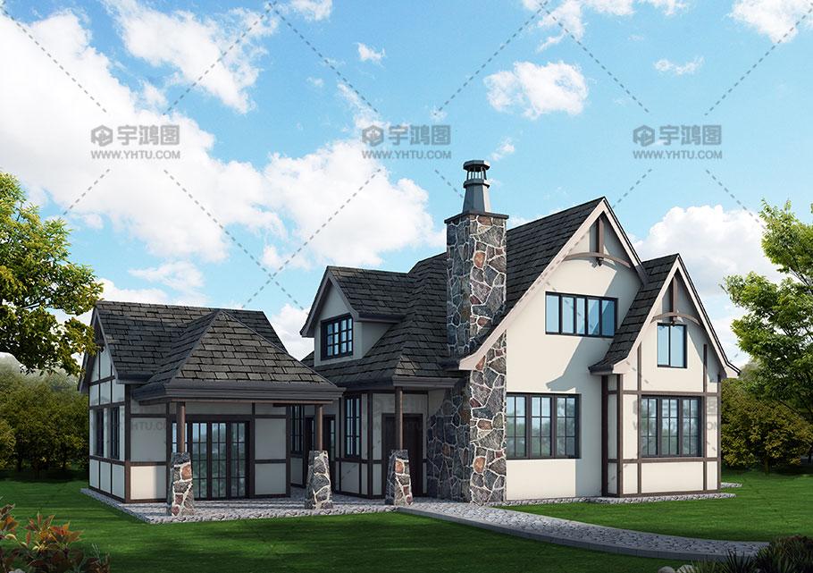 山地风格30万左右农村小别墅设计图纸