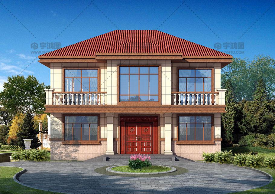 144平带露台农村二层房屋设计图纸