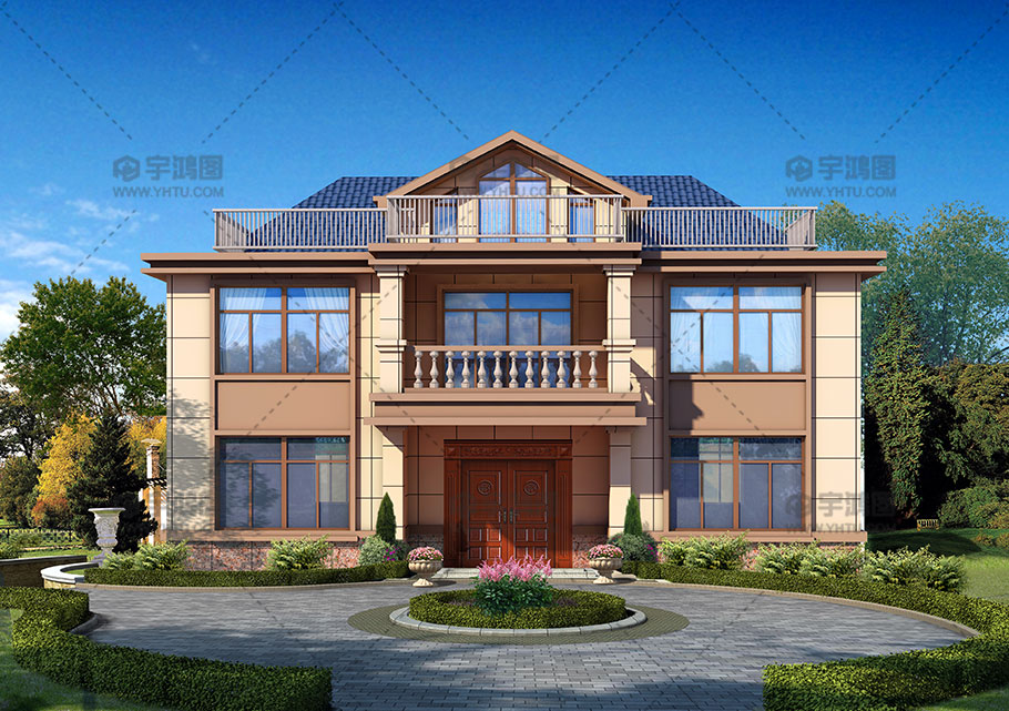 125平大气带堂屋农村房屋设计图纸