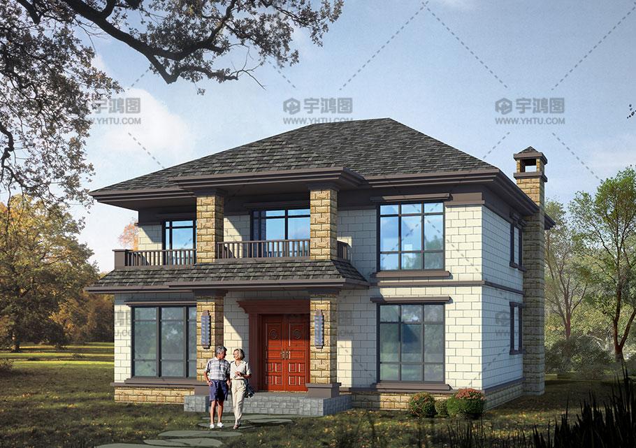 157平新亚洲风格农村两层小别墅设计图纸