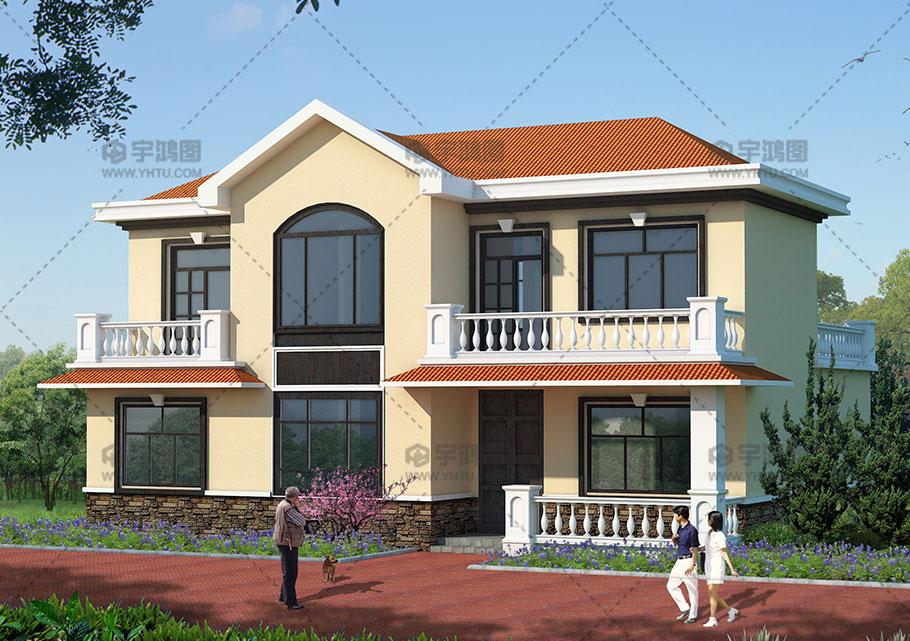 25万欧式田园农村复式小别墅设计图,美观经济