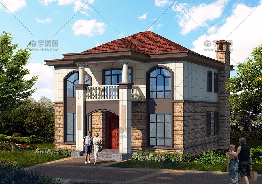 125平舒适二层美式农村别墅设计图纸