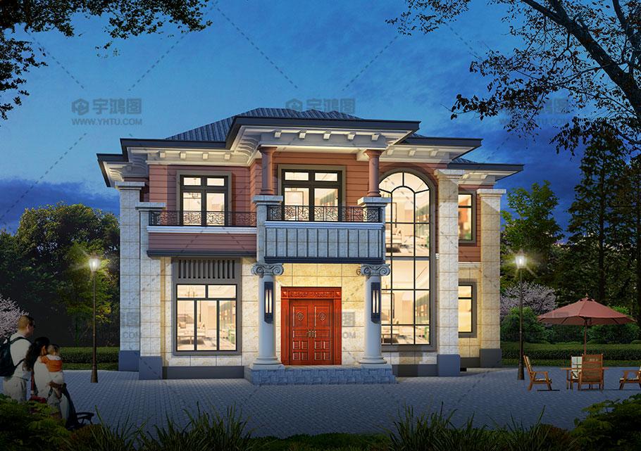140平欧式20万元二层小楼设计图,耐看实用