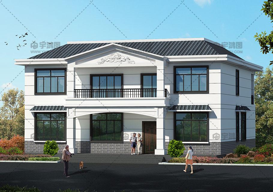 乡村二层欧式小别墅设计图,简约而不简单