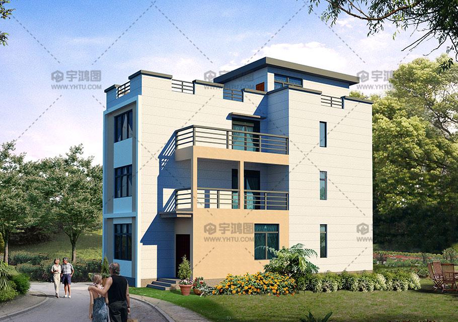 110平三层现代风农村房屋设计全套图纸