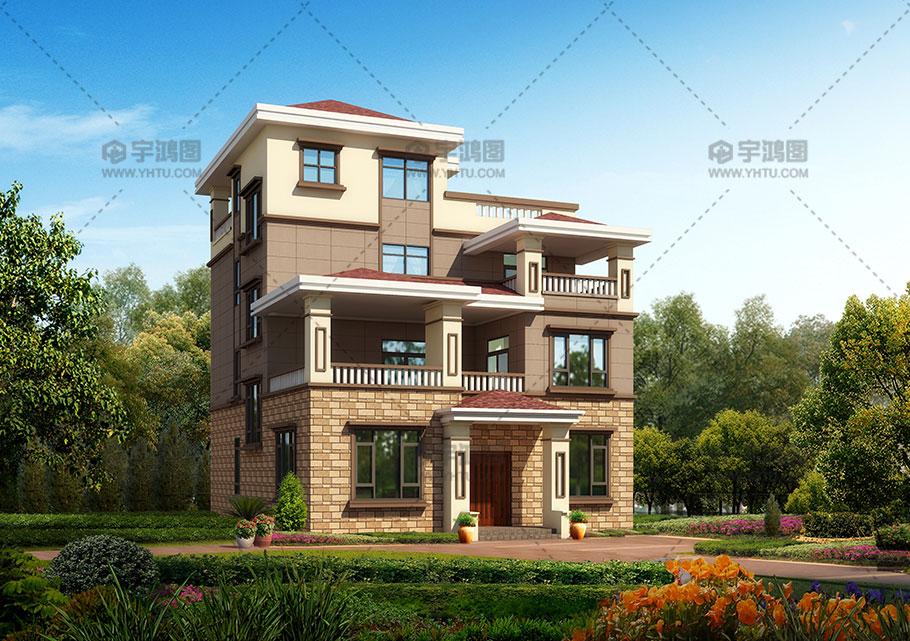 带露台56万四层农村自建房设计图纸