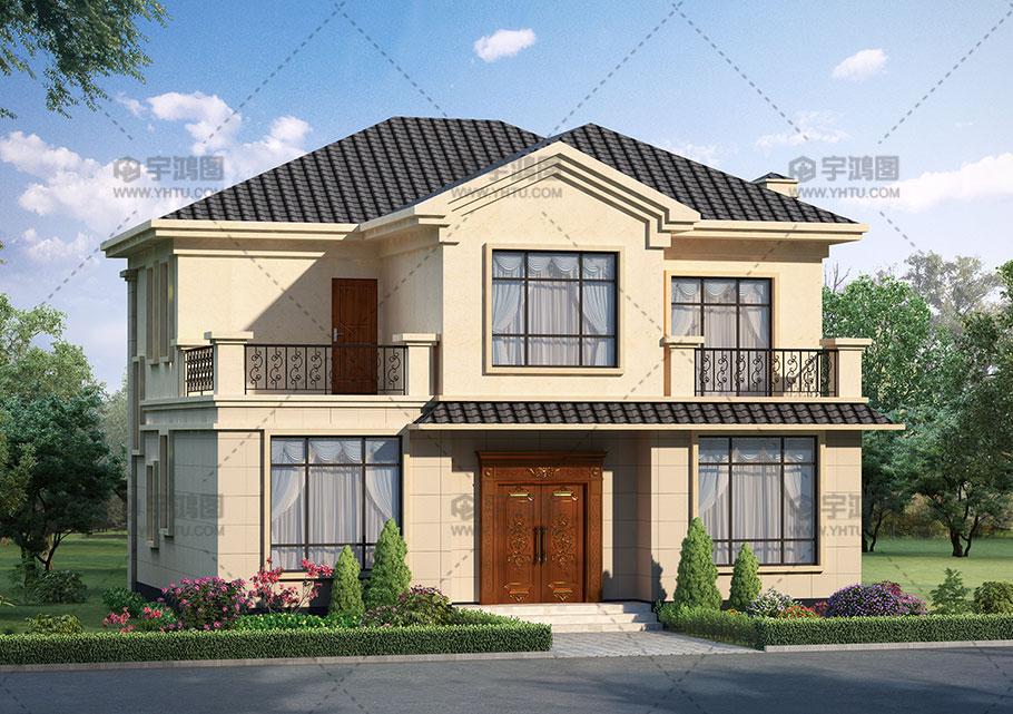15万元二层12x11米120平农村小别墅楼设计图