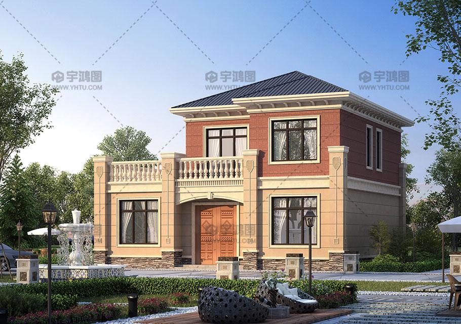 120平带大露台欧式别墅设计图