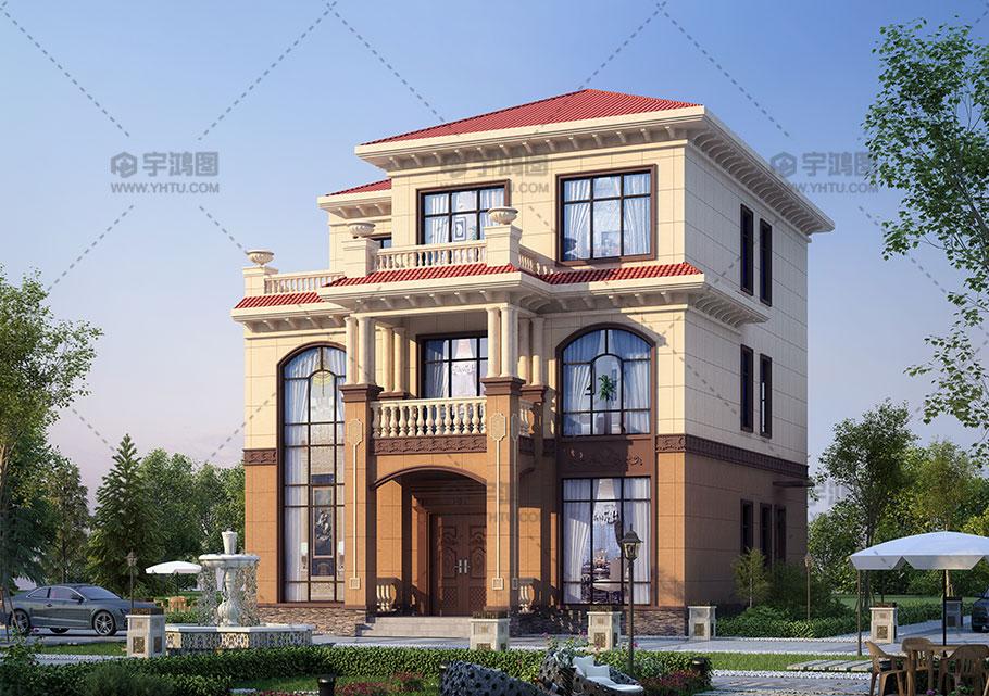 160平三层经典欧式别墅设计图纸