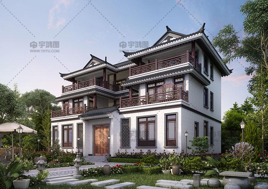 190平古典中式别墅设计图纸