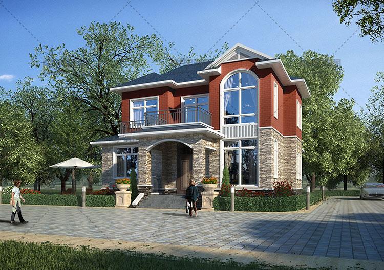 180平两层美式乡村别墅设计图纸