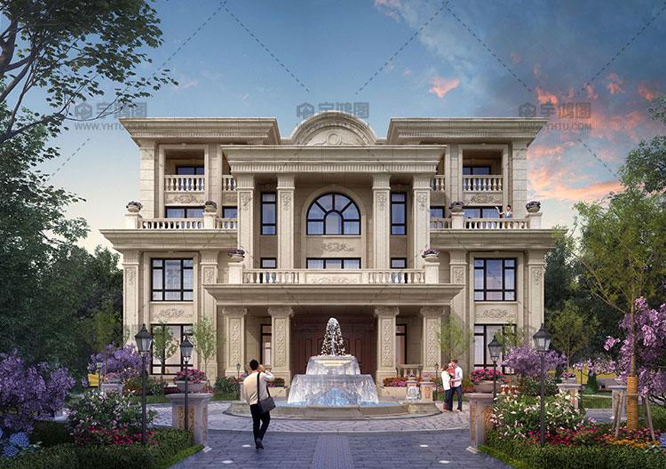 四层欧式框架结构别墅设计图纸