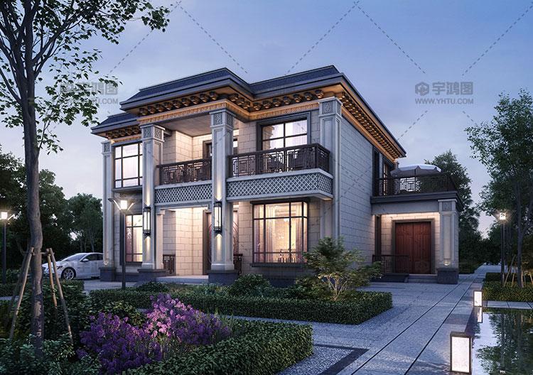 150平新中式两层别墅设计图纸