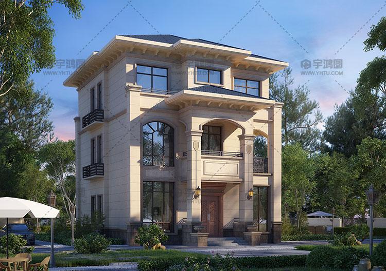 简单三层带阳台框架别墅图纸