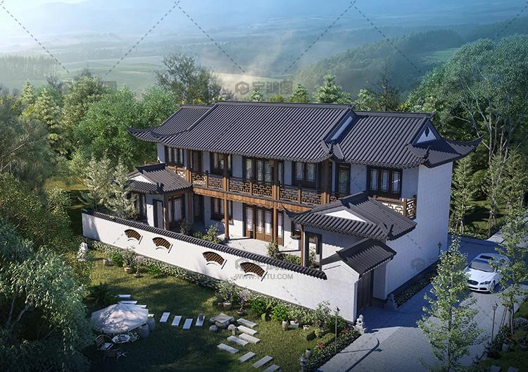 23x9米经典二层中式别墅图纸