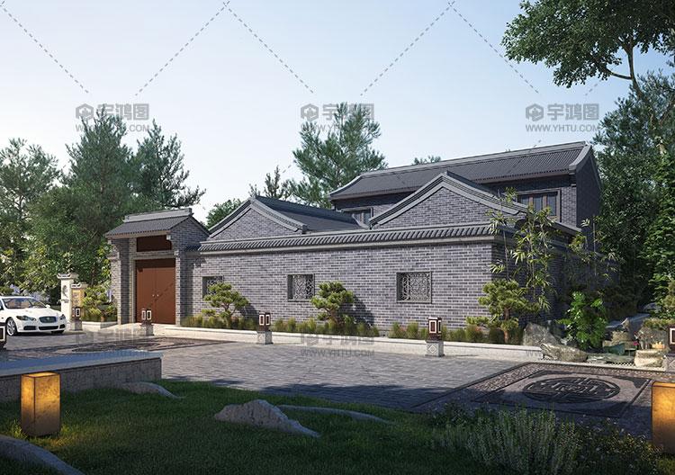 220平带神龛中式房屋设计图纸