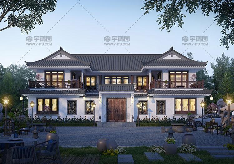250平两层中式别墅设计图纸