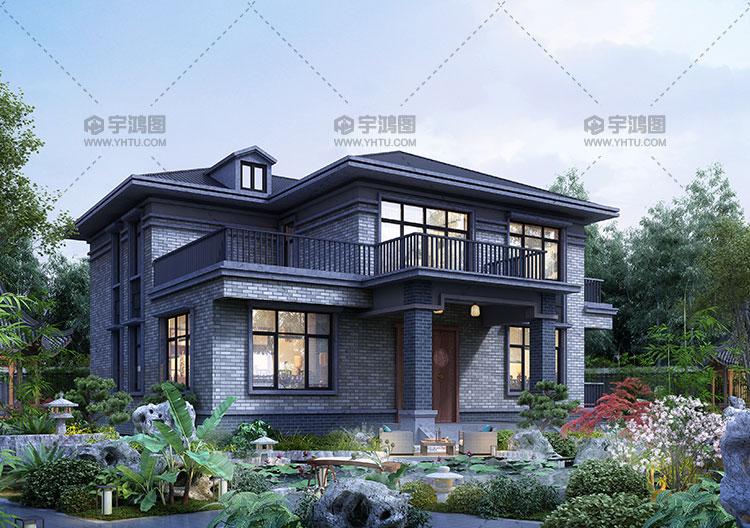 13x14米两层框架别墅设计图纸