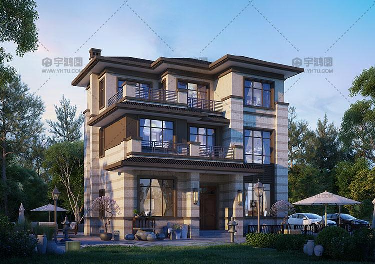 25万三层新中式别墅全套图纸