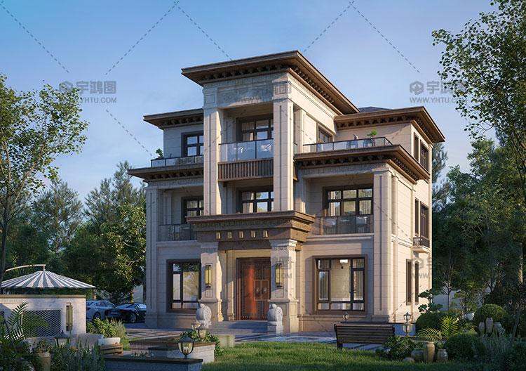 30万带露台酒窖三层别墅设计图