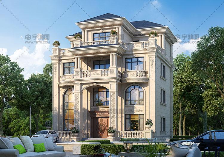 60万四层框架结构复式别墅设计图纸