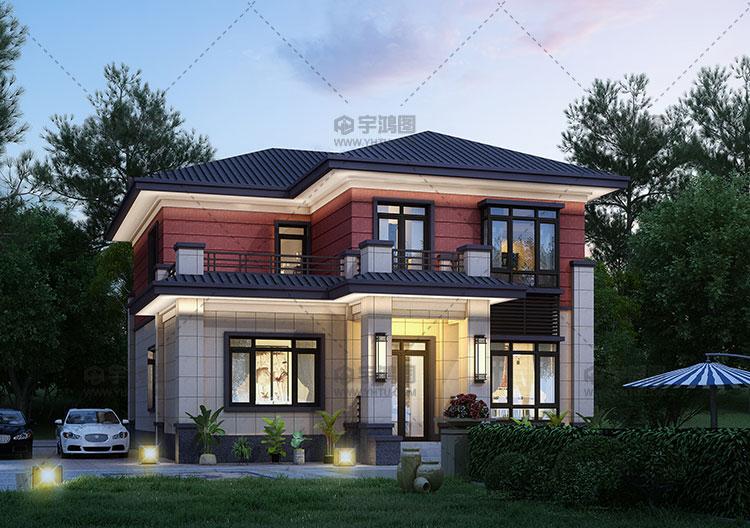 20万二层经典新中式别墅图纸