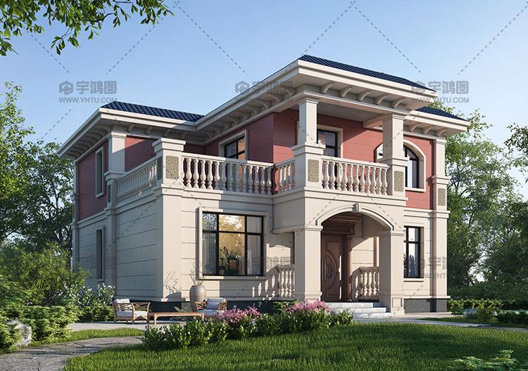 144平两层经典欧式别墅设计图纸