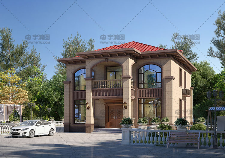 11x12米两层经典欧式别墅图纸