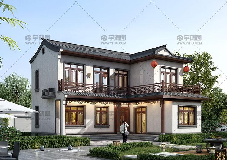 新农村二层简单中式小别墅设计图纸
