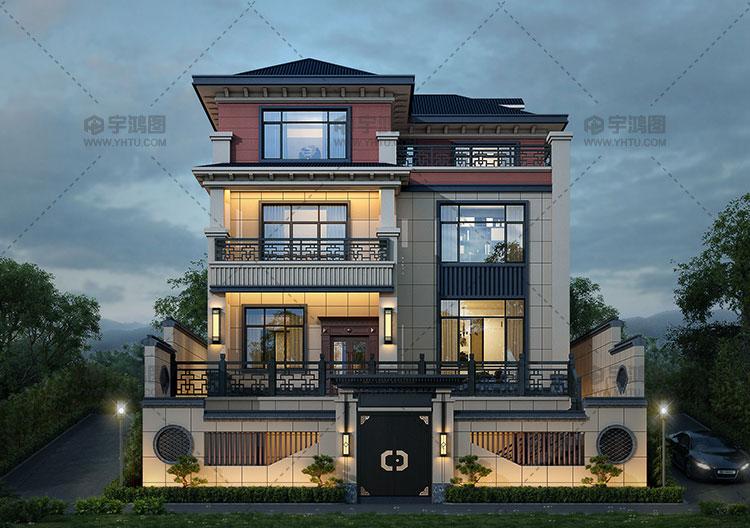130平三层漂亮欧式自建房设计图