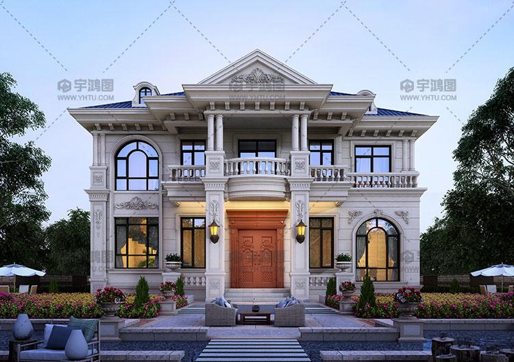 140平复式客厅欧式自建房图纸