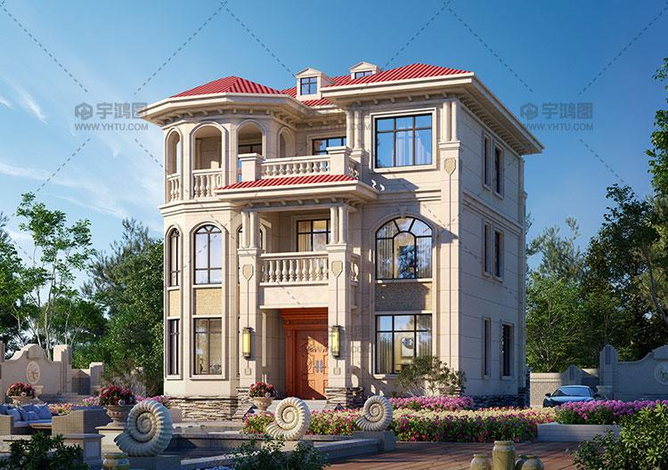 11x12米三层框架结构别墅设计图纸