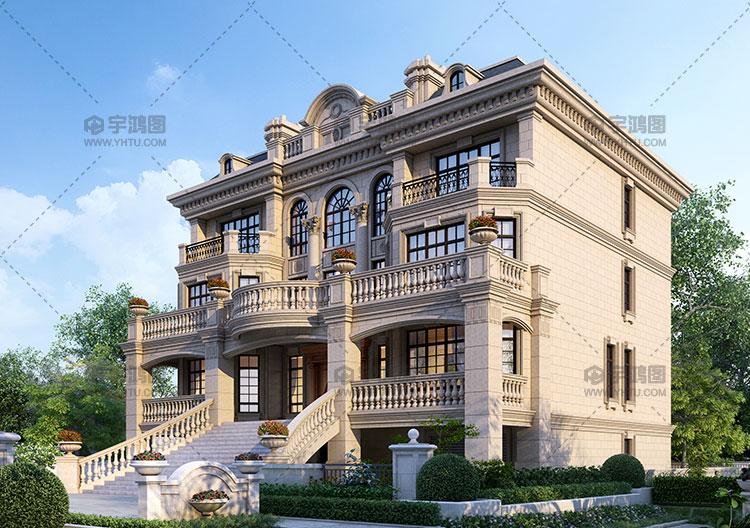 17x18米四层框架结构别墅设计图纸