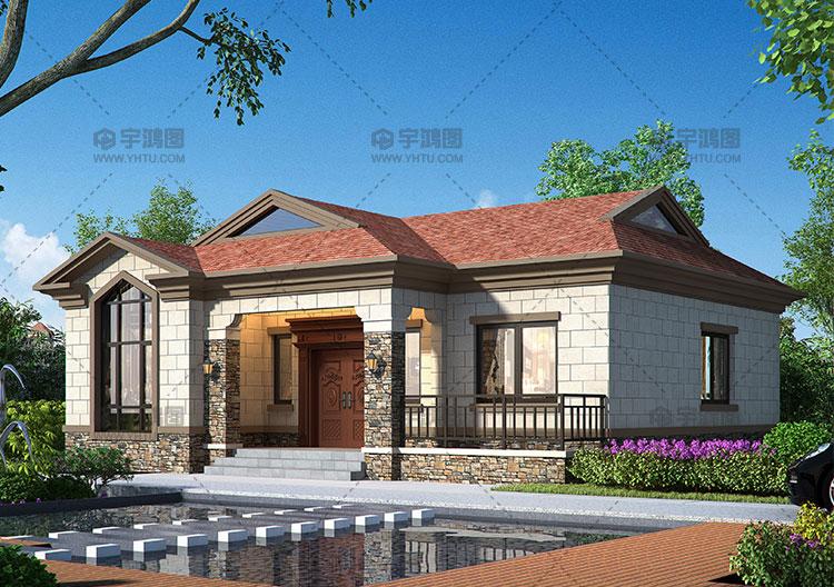 120平简约宜居欧式自建房设计图