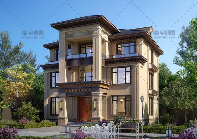 13x12米三层新中式自建房设计图