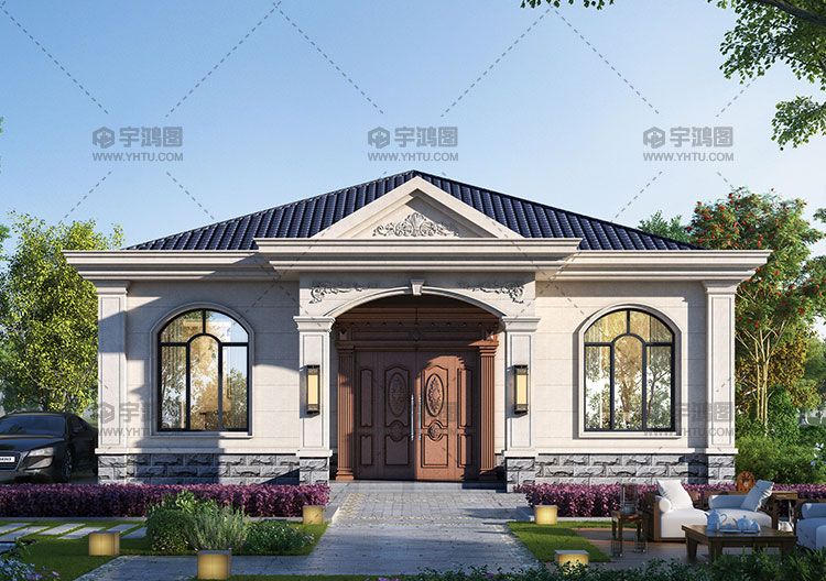 150平一层宜居欧式自建房设计图纸